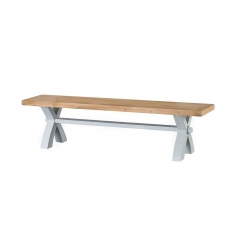 Cookes Collection Thames Grey Small Cross Bench
