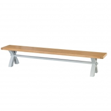 Cookes Collection Thames Grey Large Cross Bench