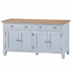 Cookes Collection Thames Grey 4 Door Sideboard
