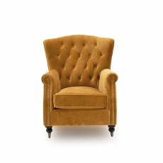 Dawson Wingback Chair Mustard