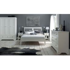 Cookes Collection Camden White Bedstead Double
