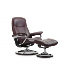 Stressless Consul Small Chair & Stool Signature Base