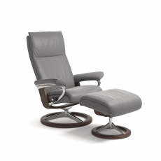 Stressless Aura Small Chair & Stool Signature Base