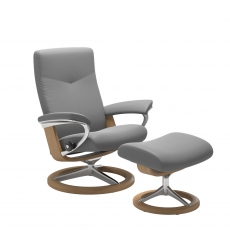 Stressless Dover Small Chair & Stool Signature Base