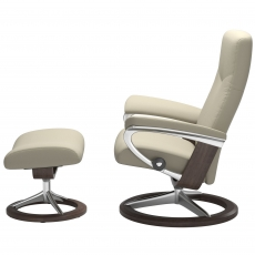 Stressless Dover Large Chair & Stool Signature Base
