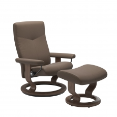 Stressless Dover Medium Chair & Stool Classic Base