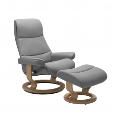 Stressless View Medium Chair & Stool Classic Base