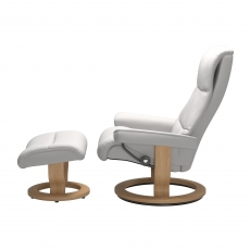 Stressless View Small Chair & Stool Classic Base