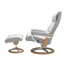 Stressless View Small Chair & Stool Signature Base