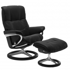 Stressless Mayfair Large Chair & Stool Signature Base