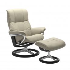 Stressless Mayfair Medium Chair & Stool Signature Base