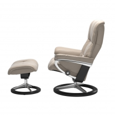 Stressless Mayfair Small Chair & Stool Signature Base