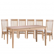 Cookes Collection Blackburn Dining Table and 6 Chairs