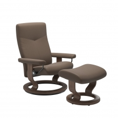 Stressless Promotional Dover Medium Chair & Stool Classic Base