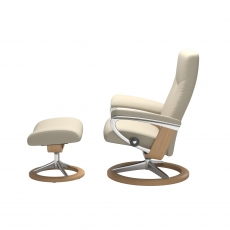 Stressless Promotional Dover Small Signature Chair and Stool