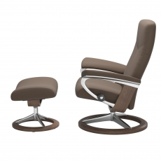 Stressless Promotional Dover Medium Chair & Stool Signature Base