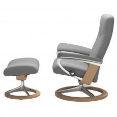Stressless Promotional Dover Large Signature Chair and Stool