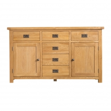 Cookes Collection Colchester 2 Door 6 Drawer Sideboard