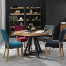 Cookes Collection Iris Circular Dining Table & 4 Chairs