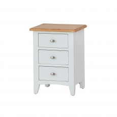 Cookes Collection Palma 3 Drawer Bedside Cabinet