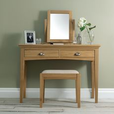 Cookes Collection Camden Oak Dressing Table