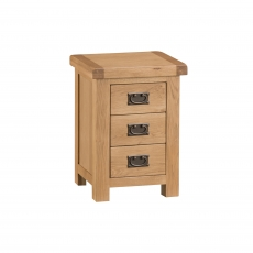 Cookes Collecton Colchester 3 Drawer Bedisde Cabinet