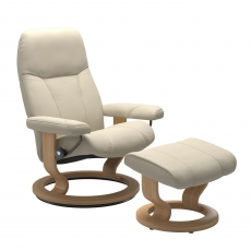 Stressless Promotional Consul Large Classic Chair and Stool
