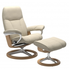 Stressless Promotional Consul Large Signature Chair and Stool