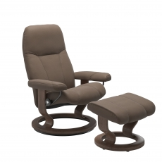 Stressless Promotional Consul Medium Classic Chair and Stool