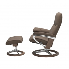 Stressless Promotional Consul Medium Signature Chair and Stool