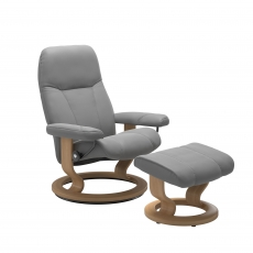Stressless Promotional Consul Small Classic Chair and Stool