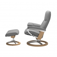 Stressless Promotional Consul Small Signature Chair and Stool
