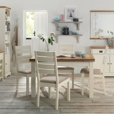 Cookes Collection Romana Two Tone Extending Dining Table