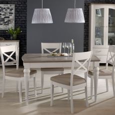 Cookes Collection Geneva Dining Table & 4 X Back Chairs