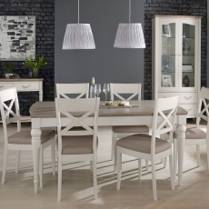 Cookes Collection Geneva Dining Table & 6 X Back Chairs