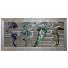 Smoke Trails Metal Framed Liquid Art