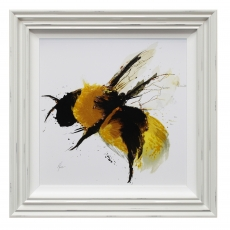 Scruffy Bumblebee Liquid Art II Framed Print