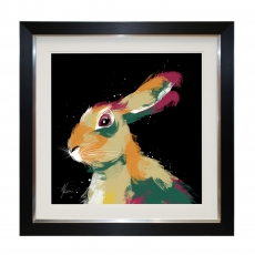 Multi Hare II Framed Picture