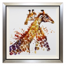 Giraffes Can't Dance Liquid Art Framed Print