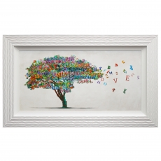 Tree of Humanity Framed Liquid Art