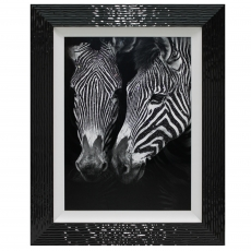 In the Mirror Liquid Art Framed Print
