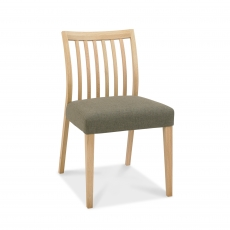Cookes Collection Low Back Slat Chair Fabric