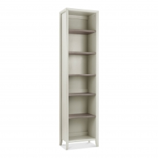 Cookes Collection Romy Soft Grey Narrow Bookcase