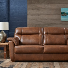 Cookes Collection Lepus Leather 3 Seater Sofa