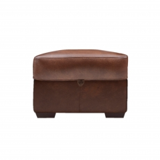 Cookes Collection Lepus Leather Storage Footstool