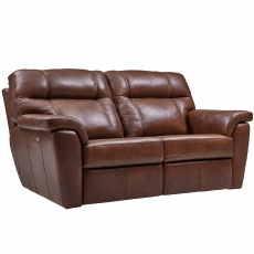 Cookes Collection Lepus Leather 3 Seater Recliner Sofa
