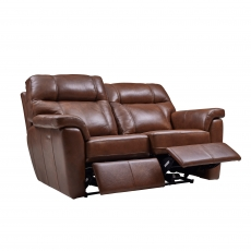 Cookes Collection Lepus Leather 2 Seater Recliner Sofa
