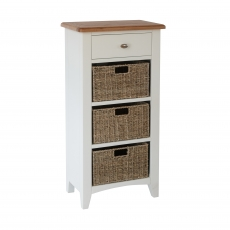 Cookes Collection Palma 1 Drawer 3 Basket Unit