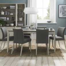 Cookes Collection Romy Painted Large Dining Table and 6 Chairs