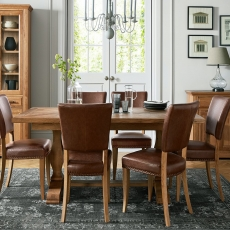 Cookes Collection Nantes Oak Dining Table and 6 Chairs